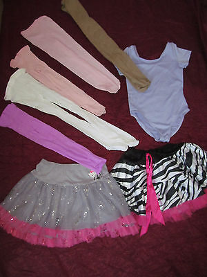 Girls dance clothing lot leotard skirts thights  ballerina