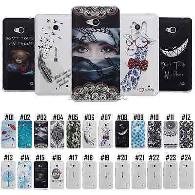 Painted Gel Case Cover Silicone TPU Soft For Microsoft Nokia Lumia N550 N640