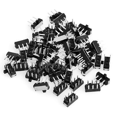 50Pcs Slide Switch DPDT 6 Pin Toggle Switch PCB Panel Mount Mini Micro