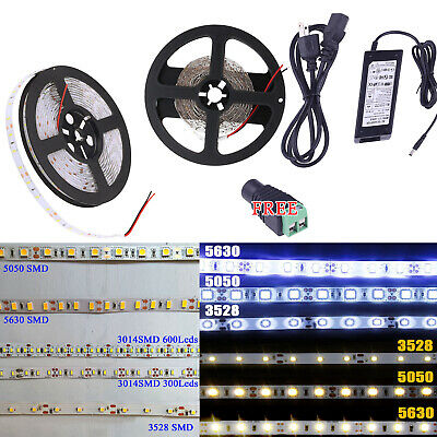 5M SMD RGB 3014/5050/3528/5630 300/600LEDs Cool Warm White Flexible Strip Light