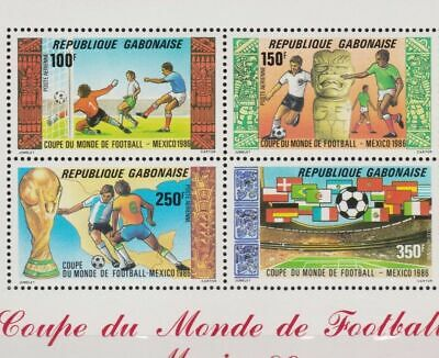 s6007) GABON 1986 MNH** WC Football'86- CM Calcio S/S