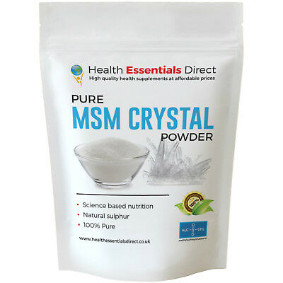 Pure MSM Crystal Powder (Methyl Sulfonyl Methane, Beauty Mineral) Choose Size