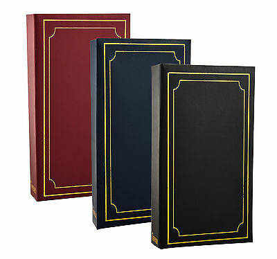 ARPAN Plain 6' X 4' Photo Album with 300 Pockets Black, Blue or Burgundy -