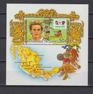 s6030) GUINEA 1986 MNH** WC Football'86- CM Calcio S/S
