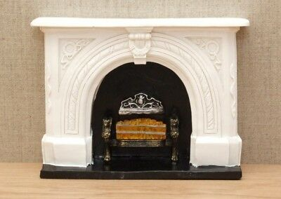 1:12 Dolls House Large 'carved stone' style fireplace