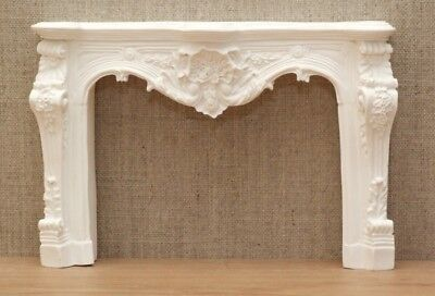 1:12 Dolls House Louis the XV fire surround - white