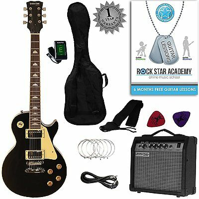 Stretton Payne LP Electric Guitar Package + Amp + Accessories + Online Lessons