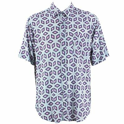 6763691e Mens Loud Shirt Retro Psychedelic Festival Party Funky Abstract Purple  REGULAR