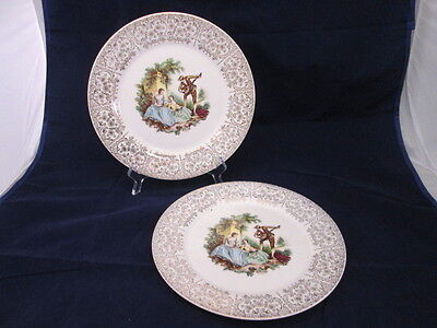 China d'Or by Limoges-American Triumph 22k Gold 1TS284 1940s 2 Dinner Plates