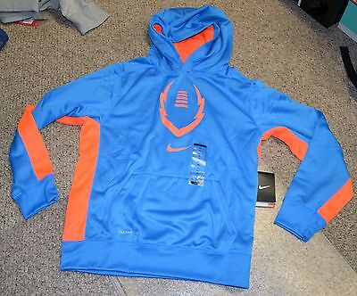New Nike Therma Fit KO Football Hoodie Sweatshirt SZ XL  717167-406 $40 Blue