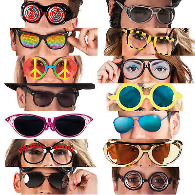 Funny Crazy Fancy Dress Glasses Novelty Costume Party Sunglasses Accessories