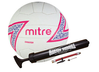 Mitre Shooter 2016 Netball with Free Hand Pump