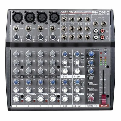 PHONIC AM440D mixer audio  12 canali EFFETTI professionale X live karaoke studio