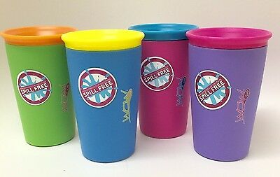 As Seen on TV Wow Cup, Spill-Proof Cup (4 pack, 4 Colors)