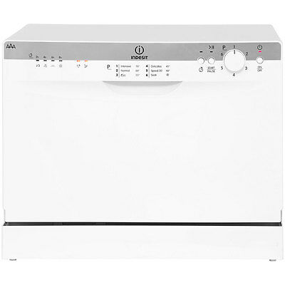 Indesit ICD661 Free Standing Table Top 6 Place Dishwasher White New