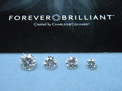 Forever Brilliant Moissanite LOOSE Round 6.5 mm 1 carat Jewel Charles & Colvard