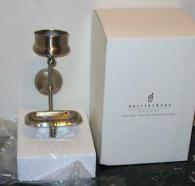 NEW Pottery Barn HOTEL Wall Mount Cup/Soap Holder ~Brushed/Satin Nickel NIP