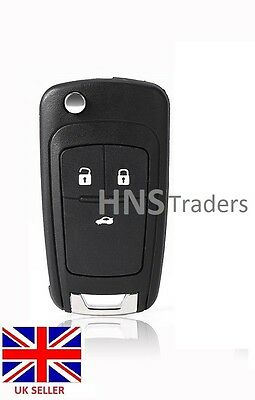 NEW 3 Button Remote Flip Key Case Blade for Vauxhall Opel Zafira Astra Insignia