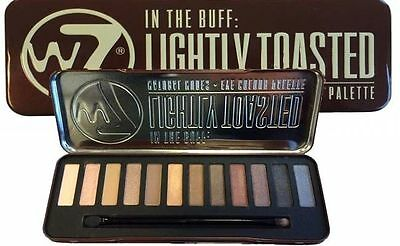 W7 in the buff lightly toasted natural nudes eye shadow palette New