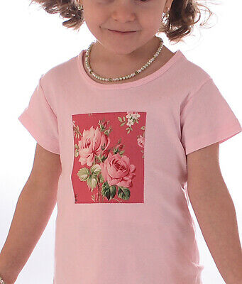 Gorgeous Kathryn Rose Designs Size 5-6 Custom Boutique BAREFOOT ROSES T-Shirt