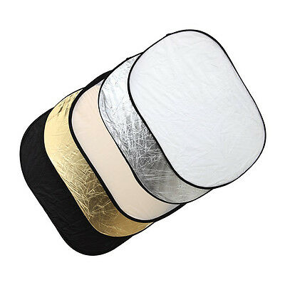 5 in 1 Photography Studio Multi Photo Collapsible Light Reflector 60×90cm DWAU