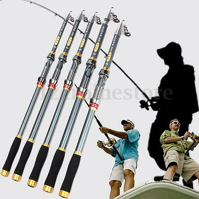 Super Tight Carbon Telescopic Spinning Pole Saltwater Casting Sea Fishing Rod