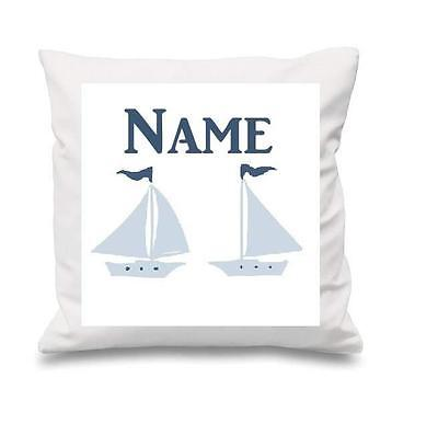 Little Sailor Nautical Boats Cushion Cover Can Be Personalised  New Free P&p