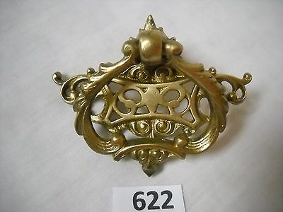 Antique Brass Single Post Ornate Drawer Pull