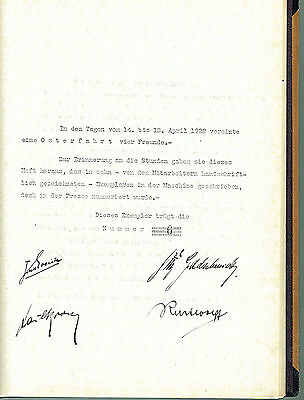 "Travel Book By Car Mercedes Benz  ""osterfahrt""  6/10 Ex.1922 Real Photo Signed"