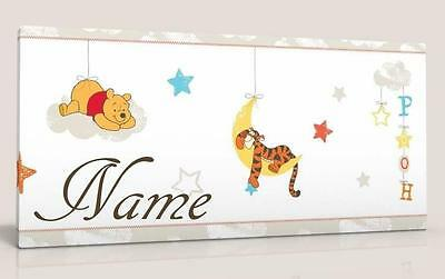 Single Canvas Picture Wall Art Personalised Winnie The Pooh Rise And Shine New