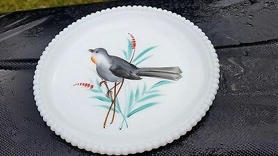 "Hard to Find Beaded Edge 7"" Salad Plate With Blue Bird"