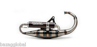 "Yasuni TUB307B ""Scooter R"" Vertical Exhaust Black Silencer 50cc 70cc Minarelli"