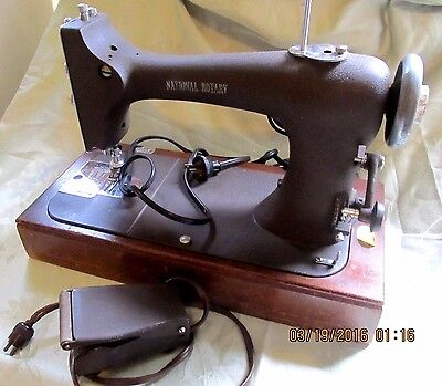 Vintage National Rotary Cast Iron Samsonite Sewing Machine - Model 30?