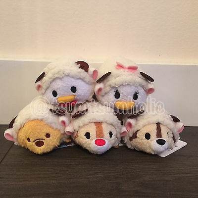 RARE Authentic Japan Disney Exclusive 2014 Sheep Tsum Tsum set of 5 NWT