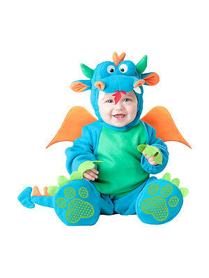 InCharacter Lil' Dragon Infant Fancy Dress Baby Blue Costume Outfit 0-24 Months