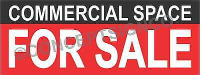 1.5'X4' COMMERCIAL SPACE FOR SALE BANNER Outdoor Sign Real Estate Property