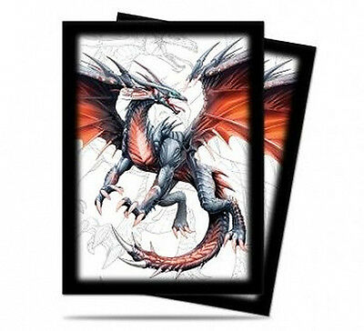 50ct Black Dragon-Art Deck Protector Sleeves Pokemon/MTG 66 x 91mm | Ultra Pro
