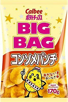 Calbee Potato Chips big bag consomme punch 170g Japanese Snack Candy Food Japan