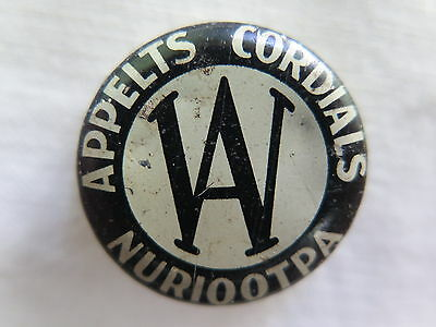 Crown Seal Bottle Cap Appelts Cordials Nuriootpa South Australia Used Condition