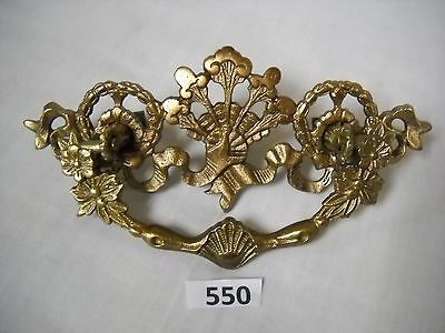 Antique Victorian Cast Brass Drawer Pull Original