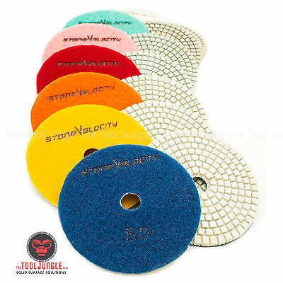 Diamond Polishing Pads 4 inch wet/dry Granite Marble Concrete Stone Any Grit