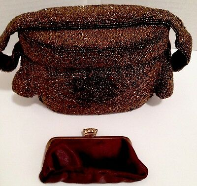 BEAUTIFUL Vintage 1940's Beaded Purse Handbag and Coin Purse~Stunning Condition~