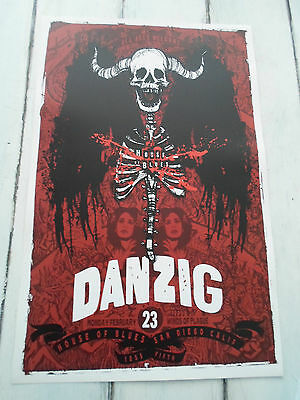 """DANZIG Concert Poster San Diego House of Blues 11""""x17"""""""