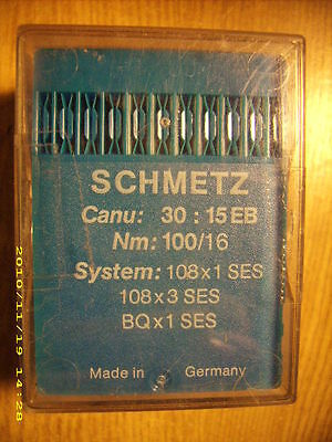 87 pc SCHMETZ sewing machine needles 108x1 SES 108x3 SES BQx1 SES Nm 100/16