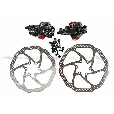 Avid BB7 Mountain Bike Disc Brake Calipers Front & Rear Set With Rotor 160mm HS1