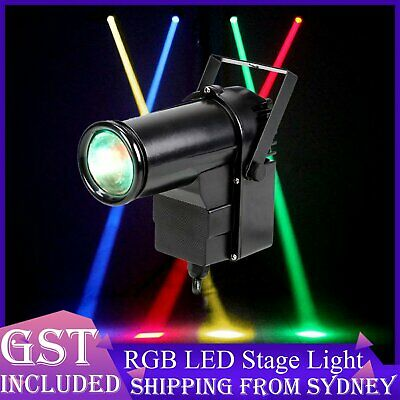 LED RGB Pin Spot Stage Lights Colour Changing Disco DJ Light up Wedding Party AU