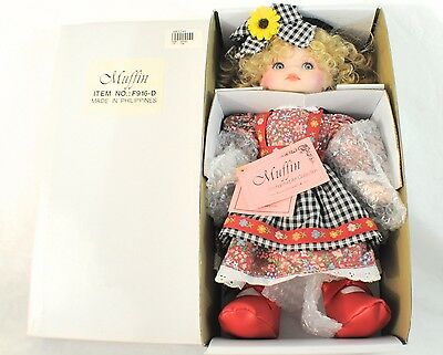 Vintage Enhanced Art Collection Muffin Doll F916-D