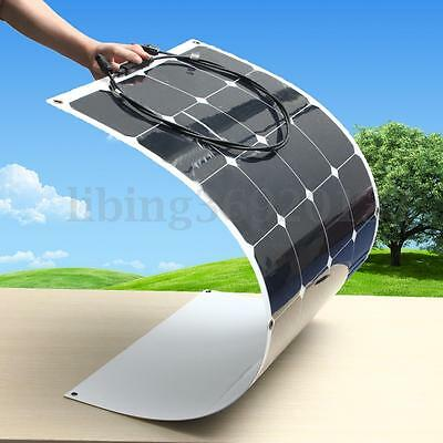 100W 18V Mono Semi-Flexible Solar Panel Charge solare Pannello per Caravan Barca