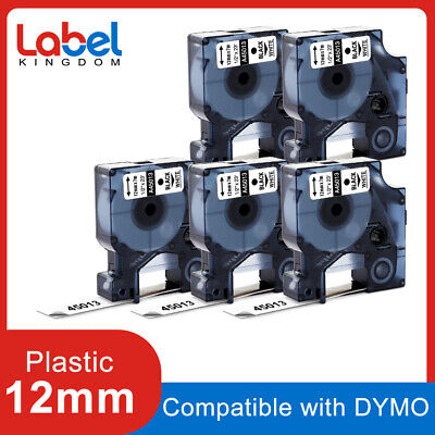 45013 S0720530 Label Tape Compatible for DYMO D1 LabelManager 12mm 5pk