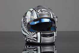 SUNAX for Arai Helmets -Sunshield internal Visor 100% UV Protection SILVER
